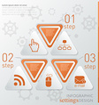 Template technology infographic icon and steps vector image vector image