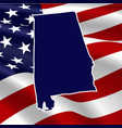 united states alabama vector image vector image