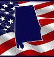 united states alabama vector image