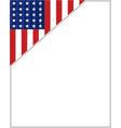 usa flag corner border vector image vector image