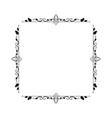 vintage elegant contour frame with rhombus squares vector image vector image