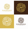 vintage gold luxury logo design template vector image vector image