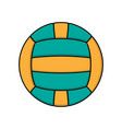 volleyball color logo vector image