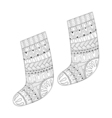 Winter knitted ethnic Sock vector image vector image