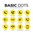 phone flat icons set vector image