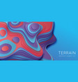 abstract paper cut terrain paper sclices with vector image vector image