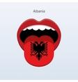 Albania language Abstract human tongue vector image vector image