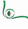 Algerian wavy flag background