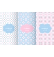 Baby pastel different seamless patterns vector image vector image