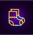 baby socks neon sign vector image vector image