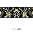 Background with golden silver black art deco vector image vector image