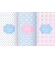 bapastel different seamless patterns vector image vector image