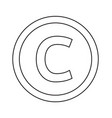basic font for letter c icon design vector image vector image