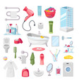 bathroom accessories personal hygiene items vector image