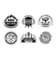 bbq logo barbecue and steak house emblems vector image