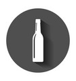 beer bottle icon in flat style alcohol bottle vector image vector image