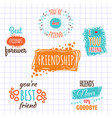best friend logos set labels isolated on vector image vector image