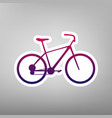 bicycle bike sign purple gradient icon vector image vector image