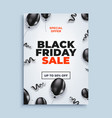 black friday sale banner background with vector image vector image