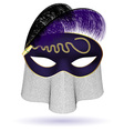 black purple half mask vector image vector image