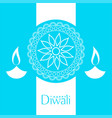 blue happy diwali background design vector image vector image