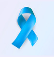 blue ribbon abstract medical symbol world vector image