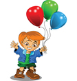 boy with balloons vector image vector image