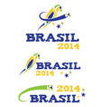 brasil 2014 with parrot vector image