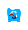 cartoon flat disappointed monsters blue icon vector image vector image
