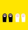 cat paw leg foot print set kitten footprint icon vector image vector image