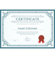 Certificate or Diploma Template ready for Print or vector image vector image
