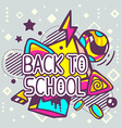 colorful back to school quote on abstract vector image vector image