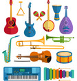 colorful musical instruments flat vector image