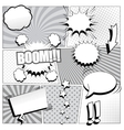 Comic book background in black and white colors vector image vector image