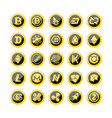 cryptocurrency buttons vector image