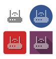 dotted icon wireless fidelity router in four vector image