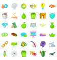 eco protection icons set cartoon style vector image vector image