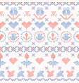 embroidery sampler stitches seamless vector image