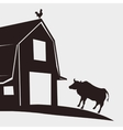 Farm design stable icon flat vector image