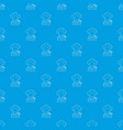 farmer pattern seamless blue vector image vector image