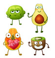 funny fruit character isolated on white background vector image vector image