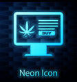 glowing neon computer monitor and medical vector image vector image
