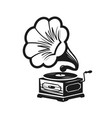 gramophone phonograph logo or label record vector image