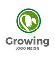 growing seed logo design template vector image