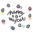 happy easter premium handdrawn lettering vector image