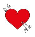 heart flat vector image vector image
