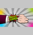 hello summer hand watch comic text pop art vector image vector image