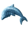 isolated low poly art with stylized dolphin vector image