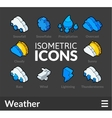 Isometric outline icons set 23 vector image vector image