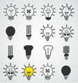 light bulb icon art set of business concepts idea vector image